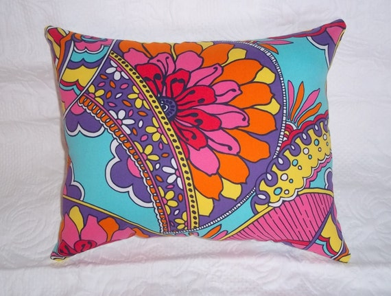 New Pillow made with  Lilly Pulitzer Shorely Blue Optical Confusion fabric