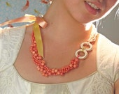 Reserved Listing for Mieke ONLY -- A Midsummer Night's Dream Coral Necklace