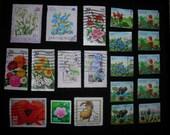 Postage Stamps -- Flowers, Set 2