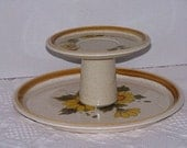 Upcycled 2 Tier Cake Stand / Cupcake Stand / Dessert Plate Stand / Vintage Inspired Mikasa / Wedding Home Decor / Center Piece