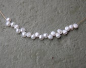 One Part Pearls Necklace wtih white freshwater pearls