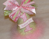 SALE!  Lime and Pink Floral Party Hat - Pink and Green Birthday Party