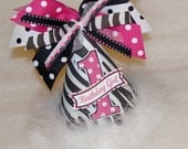 Zebra and Hot Pink Dot Party Hat