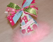 SALE!  Pink, Aqua, and Lime Polka Dot Party Hat