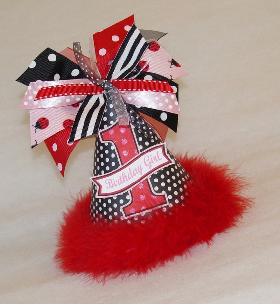 Black and Red Polka Dot Ladybug Party Hat