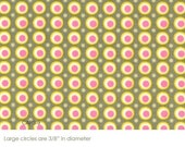 1 yard of Amy Butler Happy Dots in Grey Fabric