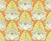 1 yard plus available of Amy Butler Lotus Pond in Tangerine Fabric