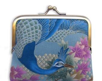 Peacock mini Clutch Coin Purse