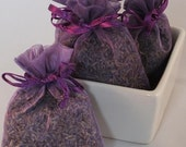 Fields of Lavender Handmade Sachet - floral, purple organza bag, scented, natural, potpourri, fragrance, aromatherapy, wedding, shower favor
