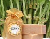 Apple Jack Handmade Cold Process Soap Bar, 4oz - cinnamon, unisex, exfoliating, gold, vegan,natural,organic sustainable palm oil,organza bag