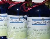HALF OFF - Red Clover Tea Handmade Room and Linen Water Spray - scented, body spray, potpourri, herbal, fragrance, cobalt blue glass