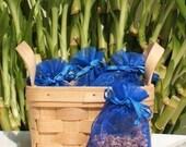 Ocean Rain Handmade Sachet - fresh scent, unisex,blue organza bag, natural,scented, potpourri,fragrance, aromatherapy, wedding, shower favor