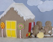 Candy Coated House and Gingerbread Family Felt Food PDF Pattern