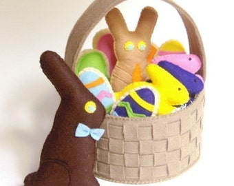 Felt Food Easter Basket - PDF DIY Pattern