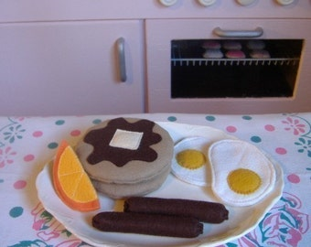 Felt Play Food - Breakfast Pattern