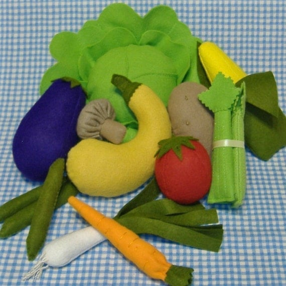Bountiful Harvest Felt Food PDF Pattern