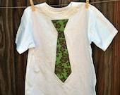Little Man Tie T-shirt - Tropical Print 5T