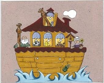 Noah's Ark - 8x10 Acrylic Painting on Canvas