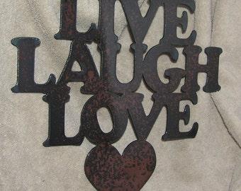 Live- Laugh- Love   - Metal art