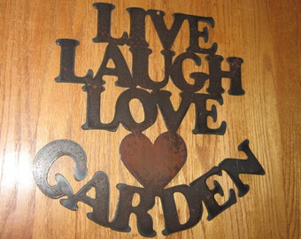 Live Laugh Love Garden  - Wall art - Metal art