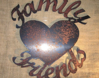 Family & Friends - Metal art