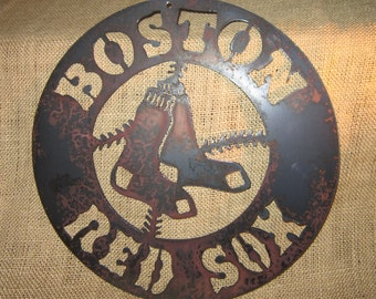 Boston Red Sox Metal Art