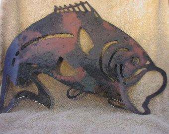 For the Bass fisherman  - Metal art