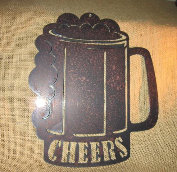 Cheers-Beer mug Metal Art