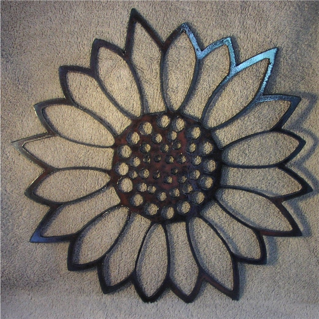 Sunflower Wall Art sunflower metal art