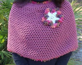 Crocheted Flower Power Shawl
