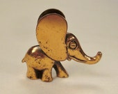 ELEPHANT Moderne  Sculpture COPPER patina  1960s 2 inches tall  X2 X1