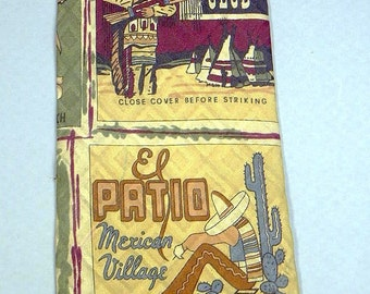 Western and Mexican Advertisements RETRO TIE  all silk made in USA Italian fabric