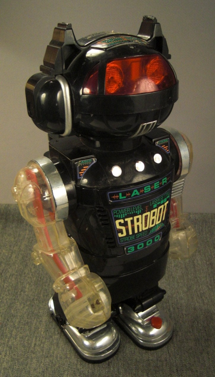 Vintage Toy Robots : Vintage toy robot strobot new bright industriall ltd
