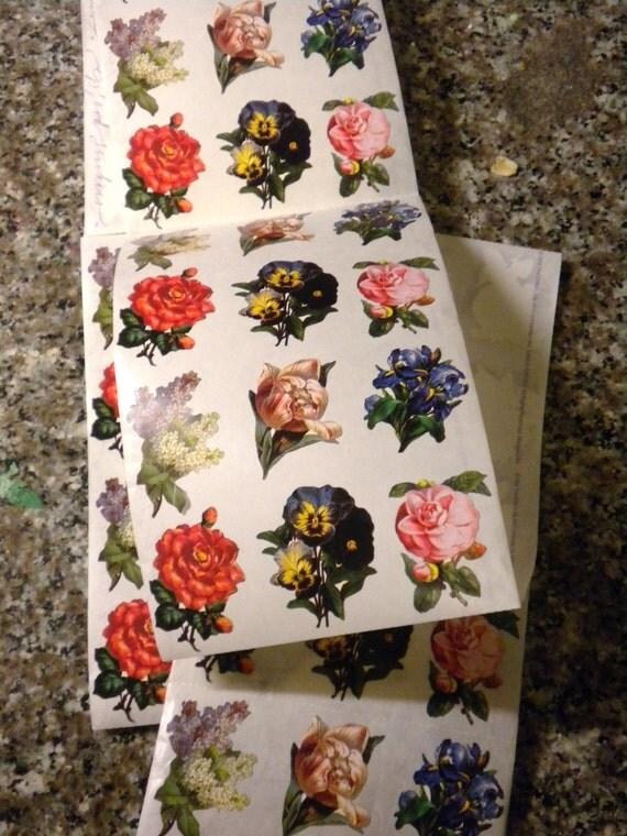 5 Feet of Flower Stickers