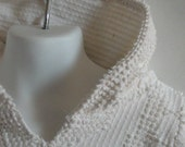 Baby Hoodie. Baby Girl Upcycled Clothing. Vintage Chenille Hoodie. Size 6 to 12 Months.