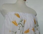 Womens Tunic. Tunic. Tunic Shirt. Romantic Tunic. Womens Upcycled Dress. Baby Doll Tunic.Embroidered Dress. Womens Upcycled Clothing.