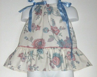 Baby Girl Pillowcase Dress / Top Size. Newborn to 18 months. Length 15 inches.