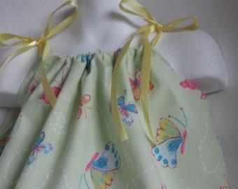 Butterfly. Baby Toddler Girl Pillowcase Dress.Upcycled Pillowcase Dress. Custom Sizing.