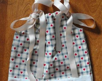 Baby Girl Pillowcase Dress. Preemie Pillowcase Dress.  Size Newborn, 6 Month. Length 14 inches