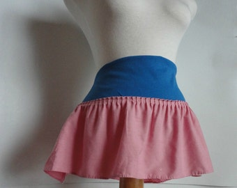 Shabby Chic Mini Skirt. Upcycled Mini Skirt. Womens Eco Fashion. Upcycled Clothing Women.