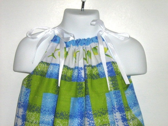 Pillowcase Dress / Top.  Size 12 Month, 18 Month,  24 Month, 2T, 3T. Length 17 inches. SALE.