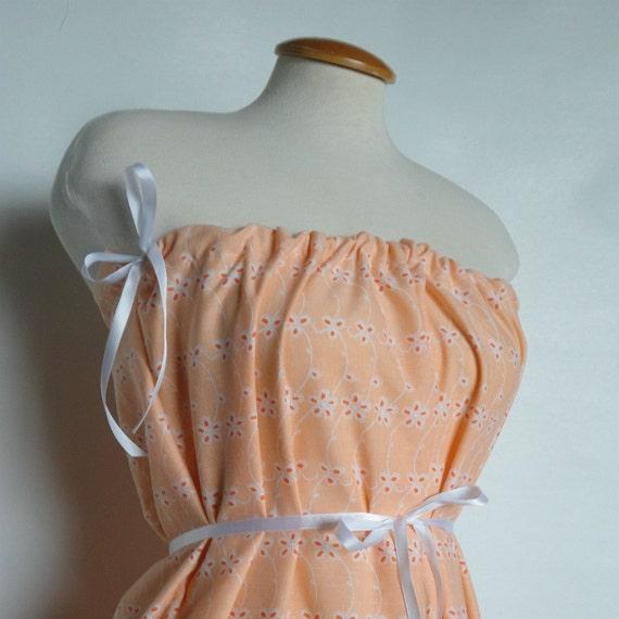 Bright Orange Dress. Floral Dress. Beach Dress. Cover Up. Summer Dress. Romantic Dress. Free Shipping.