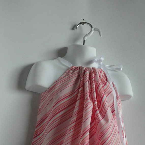 Childrens Spring Dress. Kids Dress. Pink Dress.Toddler Girl Pillowcase Dresses / Top.  Size 24 Month, 2T, 3T, 4T. Length 19 inches.
