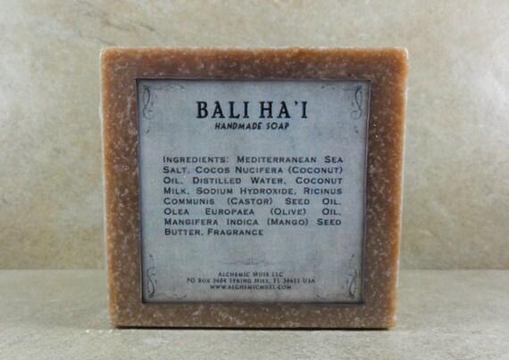 Bali Ha'i - Mediterranean Sea Salt Soap - Tropical Fruit, Island Flowers, Coconut Milk