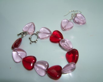 Red and Pink Heart Set