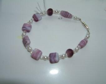 White and Purple Bracelet