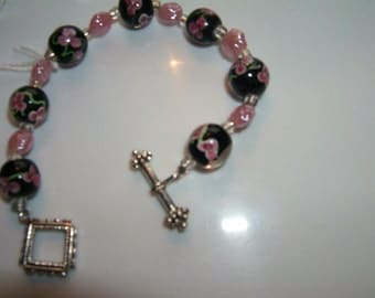 Black and Pink Bracelet