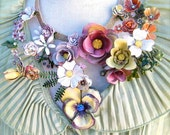 Natural World floral statement necklace