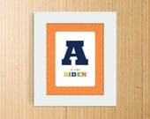 8x10 Customized Letter and Name Print