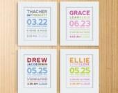 Modern Typography Birth Print